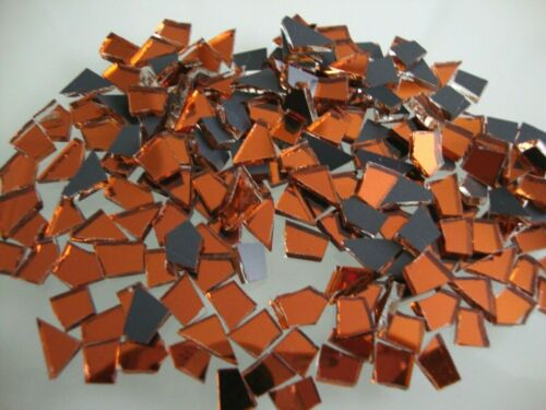 400 pcs Mosaic Burnt Orange Mirror Tiny pieces BEST FOR CRACKLE EFFECT