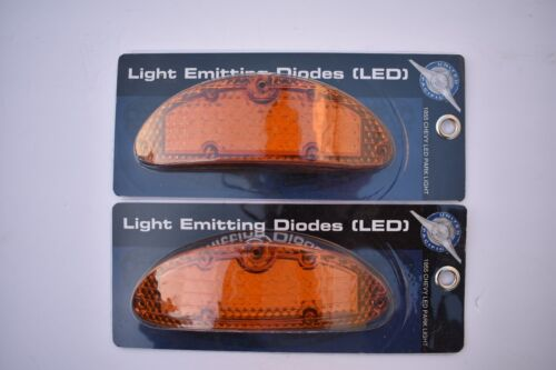 2 Amber Park Turn Signal Light LED Bulb Parking Lens 1955 55 Chevy Chevrolet