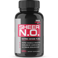 Heer N.o. Nitric Oxide Supplement Premium Muscle Building Sheer Strength 120ct