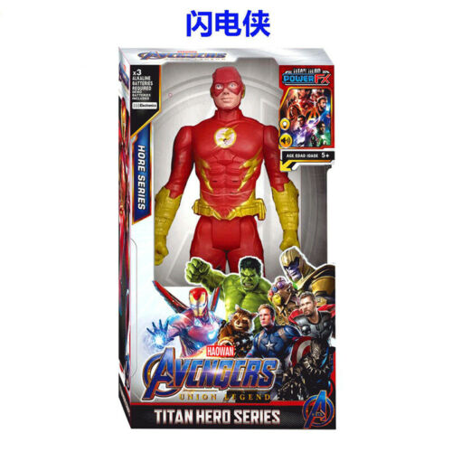 "12/"" Marvel Flash Electronic Talking Speech Sound Interactive Action Figure Toy"
