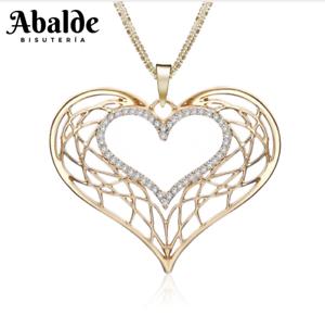 Collar-y-Colgante-Mujer-Corazon-Love-Amor-Oro-Plata-Joya-Moda-Regalo-ideal-Novia