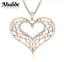 Collar-y-Colgante-Mujer-Corazon-Love-Amor-Oro-Plata-Joya-Moda-Regalo-ideal-Novia miniatura 1