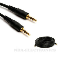 50ft 3.5mm Male to Male M/M Jack Audio Stereo Aux Cable PC MP3 Adapter Extension
