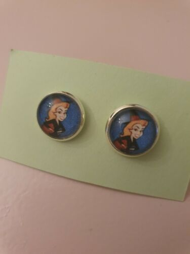 BeWitched Samantha Witch 70s 80s Childhood Retro Silver Plated Earrings