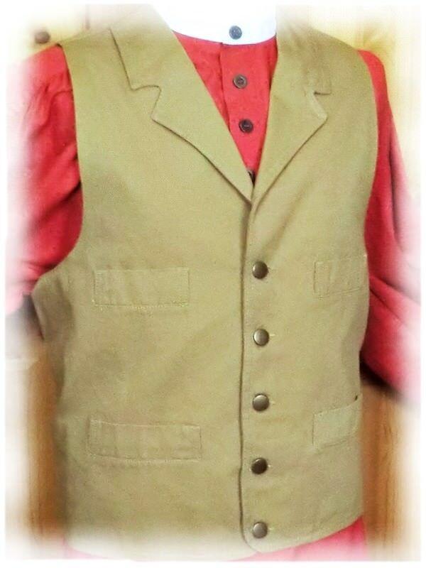 Old West Style Weste BAILEY tan Gr. L-XXL NEU   Western Cowboy Kleidung