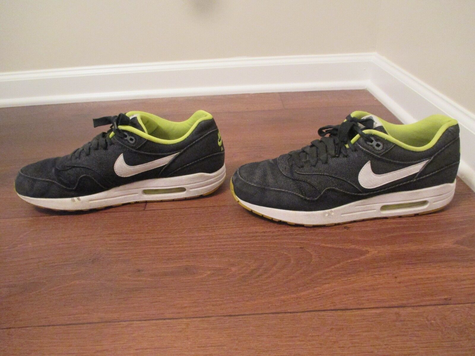 hot sales 76d4f 51814 ... Used Worn Size 12 12 12 Nike Air Max 1 PRM Shoes Black, White, ...