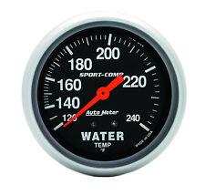 "Auto Meter Sport-Comp 120-240 Deg F Mechanical Water Temperature Gauge 2 5/8"""