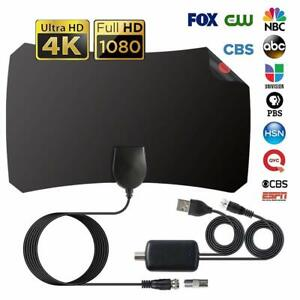 Indoor-Digital-TV-Antenna-Aerial-Signal-Amplified-Thin-HDTV-HD-Freeview-200-Mile
