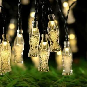 40 LED Solar String Bottle Lights Patio Yard Party Garden Waterproof Outdoor