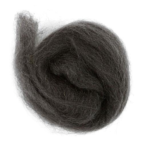 5x Natural Wool Roving 10g Graphite Sewing Craft Tool Hobby Art UK Bulk Filoro