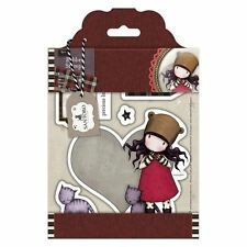PURRRRRFECT LOVE-Docrafts Santoro Gorjuss Rubber Stamp-Stamping Craft-Tweed Girl