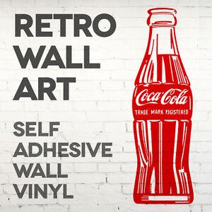 retro coca cola bottle wall decal sticker transfer vinyl graphic qty x2 ebay. Black Bedroom Furniture Sets. Home Design Ideas