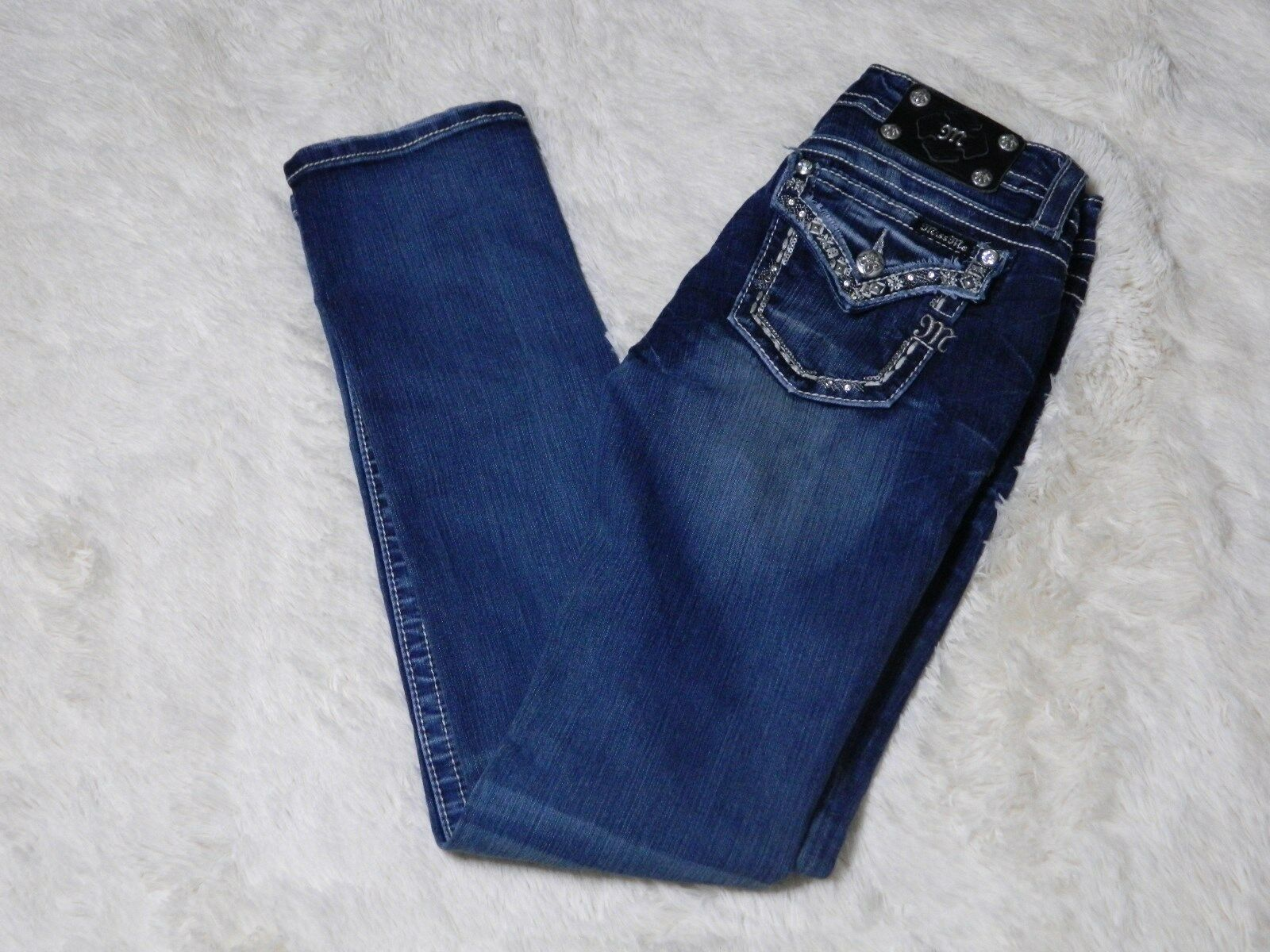 Miss Me Signature Straight Womens Jeans Size 27 Medium Wash FREE S&H
