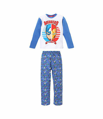 Boys Kids Official Avengers Captain America Iron Man Long Sleeve Pyjamas PJs