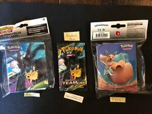 NEW Pokemon SUN & MOON Series 9-TEAM UP- Mini 60 Card album binder +  PACK