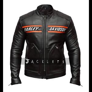 Bill-Goldberg-WWE-Wrestler-Harley-Davidson-Black-Biker-Real-Leather-Jacket
