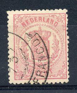 Weeda Netherlands 20 Fine used 1869-71 Coat of Arms 1 1/2c rose CV $77.50