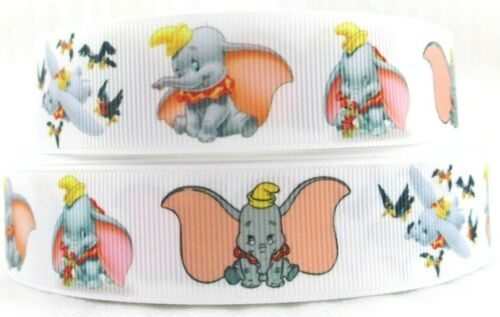 """1/"""" 2 YARDS The Crows /& Dumbo Grosgrain Ribbon Hair Bows Cards Crafts Scrapbooks"""