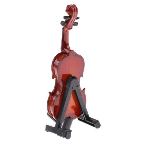 1//6 Puppenhaus Mini Holz Violine Musikinstrument Für Aktionfigur Zubehör
