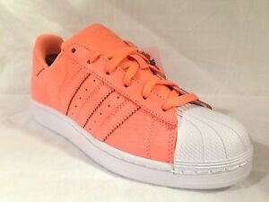 ADIDAS Originals Superstar W AQ2721 SunGlow Bianco Taglia UK 5 EU 38 NUOVI