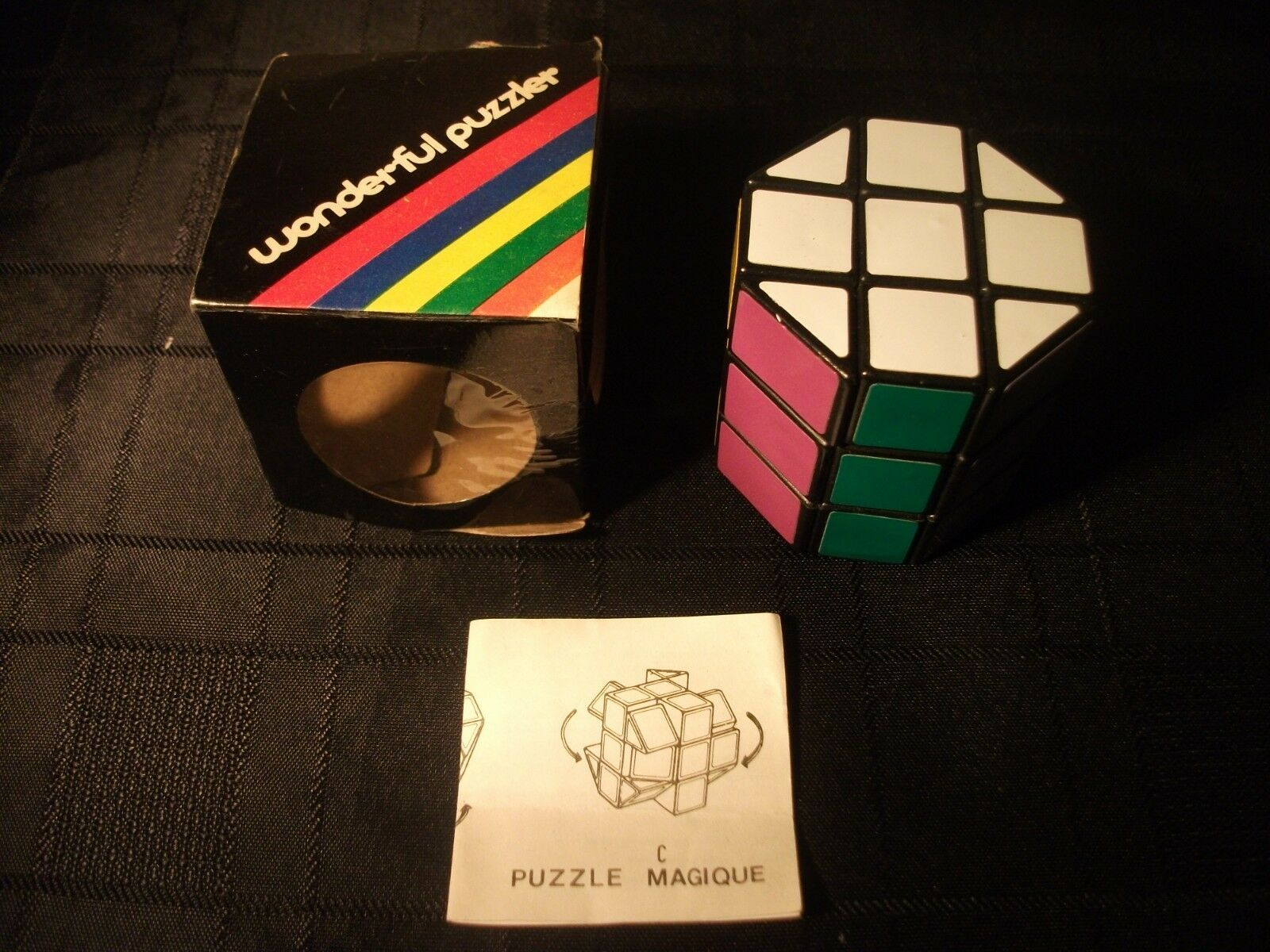 Vintage RUBIK'S WONDERFUL PUZZLER Barrel Cube Pre1980 extremaly RARE