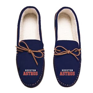 2a0a3b0c72a2 Details about Houston Astros Team Color MLB Men s Moccasins Slippers FREE  SHIPPING