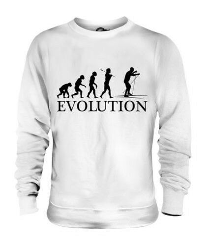 CROSS COUNTRY SKIING EVOLUTION OF MAN UNISEX SWEATER MENS WOMENS LADIES GIFT