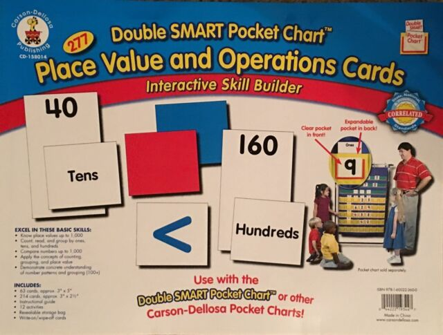 Carson Dellosa Doublesmart Pocket Chart 277 Place Value Operations