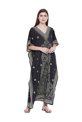 Kaftan Caftan Dress Black Size Maxi Women Long Plus Beach Tunic Boho Cover Gown
