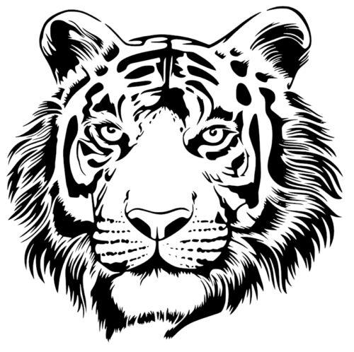 Tiger Vinyl Decal//Autocollant