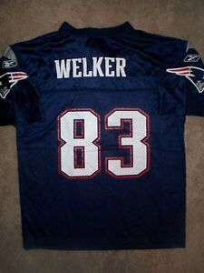 1350f1e98 REEBOK New England Patriots WES WELKER nfl Jersey YOUTH KIDS BOYS (L ...