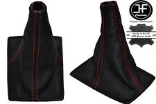 RED  STITCHING REAL LEATHER GEAR GAITER FITS TOYOTA CELICA 1994-1998