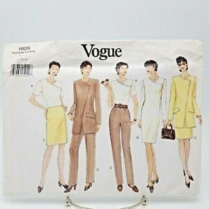 Vogue Suit Pants Skirt Dress Jacket Top Pattern 1925 Size 14 16 18 Church Office