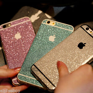 reputable site 9499c 70ce6 Details about Full Body Wrap Decal Vinyl Glitter Sticker Skin Cover For  iPhone 5, 5c 6 7 Plus