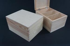 1-x-Plain-Wooden-Natural-CD-Box-Chest-Keepsake-Box-Trinket-Storage-PD7