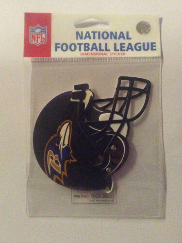 Official Licensed NFL Football Gear 3 Inch Team Logo Helmet Dimensional Sticker
