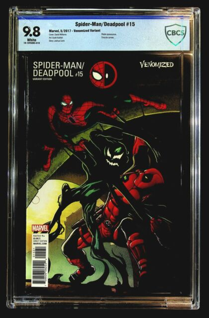 Spider-Man/Deadpool #15 CBCS 9.8 David Williams Venomized Variant Blade Dracula