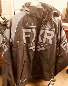 Details about FXR Racing Clutch Jacket Black Snowmobile Jacket  180030-1010-13 SIZE L
