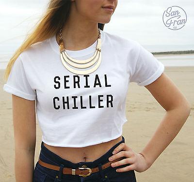 * SERIAL CHILLER Crop Top Tank Fashion Tumblr Summer Retro Blogger Grunge Dope *