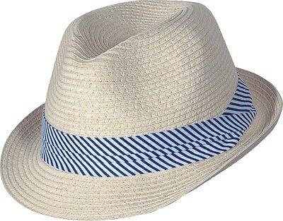 Strohhut Bogarthut Sommerhut Hut Panama Sonnenhut Herren Damen »milano« Beige Spezieller Kauf