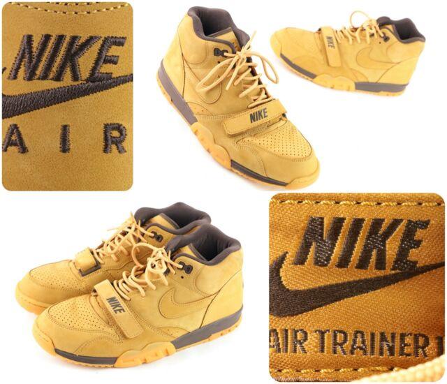 Cocinando Miau miau Asco  Size 11 - Nike Air Trainer 1 Mid Premium QS flax 2014 for sale online   eBay