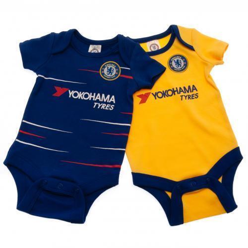 Chelsea Fc 2 Pack Body Football Home /& Away Kit Bébé Gilets saison 18//19