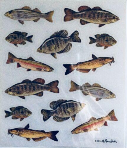 Fish Fishing Scrapbook Stickers