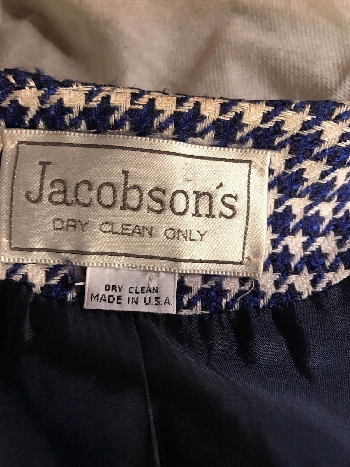 Jacobsons bluee And White Blazer Fits Like A A A Large Or Extra Large 0d11af