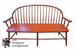 Image Is Loading Primitive Style French Country Farm House Bench Curved
