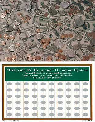Raise $120.00 With A $2.00 Investment Scratch Off Cards For Fundraising