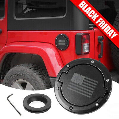 USA Flag Gas Tank Fuel Filler Cover Cap fit for 2007-2018 Jeep Wrangler JK 2//4dr
