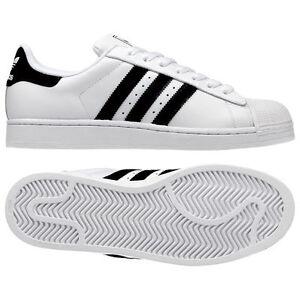 Uk 712uk Bianco Adidas Nero Sneaker Taglie Superstar Bnib Uomo 2 New Pelle D9EH2WI