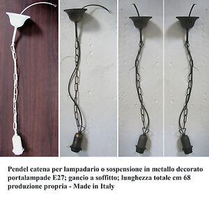 Pendel-catena-cavo-per-lampadario-sospensione-lampada-soffitto-con-gancio