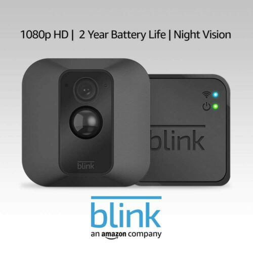 HD Video Blink XT Home Security Camera System with Motion Detection Wall Mount